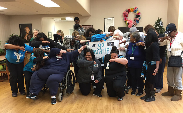 PACESP-Staff-Dab The staff and participants are cheering on the Carolina Panthers. Dab On!