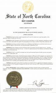 """cas-29499-North-Carolina-PACE-Month-181x300 Governor proclaims September 2019 as """"NORTH CAROLINA PACE MONTH"""""""
